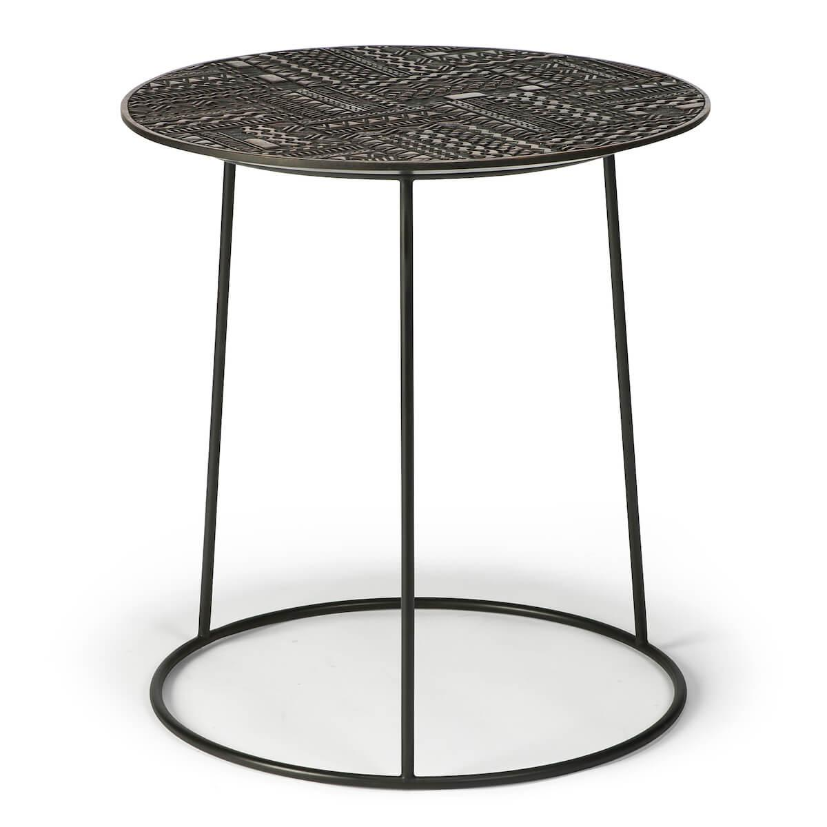 Table d'appoint ronde 58cm TABWA Ethnicraft teck noir