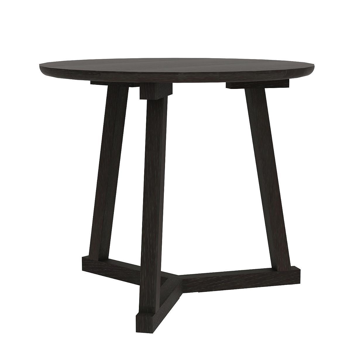 Table d'appoint TRIPOD Ethnicraft 70x70 noir