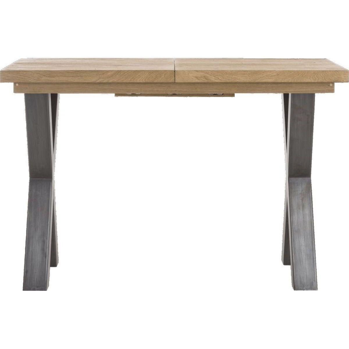 Table de bar à rallonge METALOX HetH 140x90cm pieds X