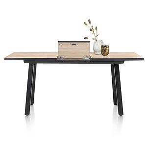 Table de bar extensible 98x160/210cm AVALOX Henders & Hazel chêne natural vintage-pieds simple