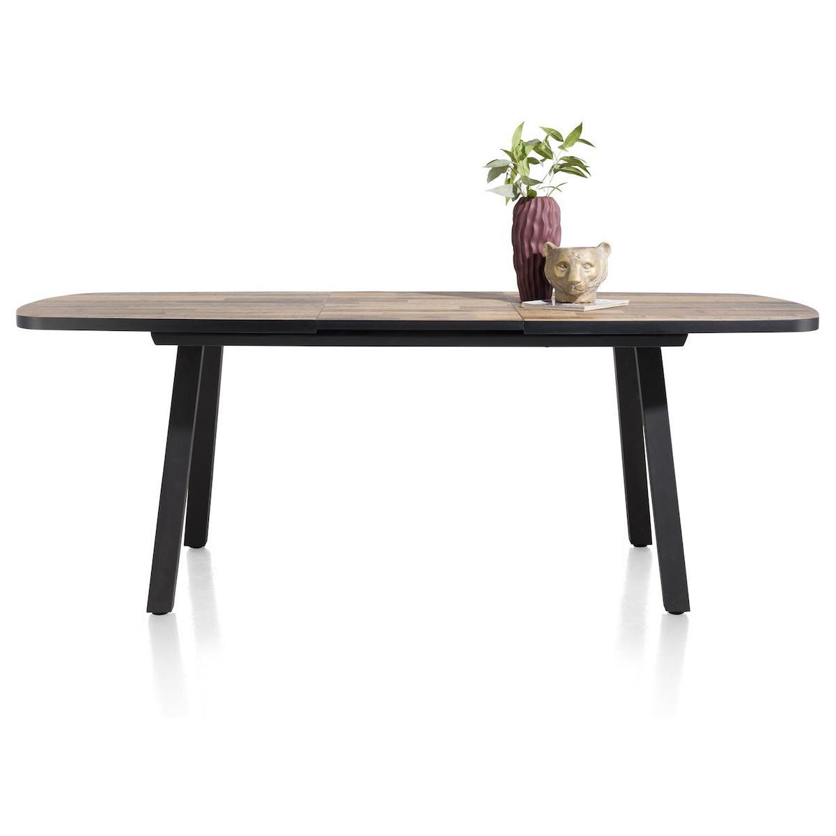 Table de bar extensible ovale 110x190/250cm AVALOX Henders & Hazel driftwood-pieds simple