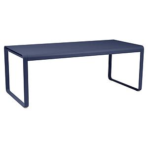 Table de jardin 196x90cm BELLEVIE Fermob Bleu Abysse