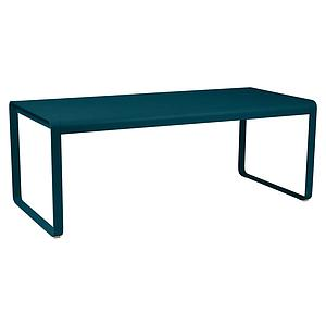 Table de jardin 196x90cm BELLEVIE Fermob bleu acapulco