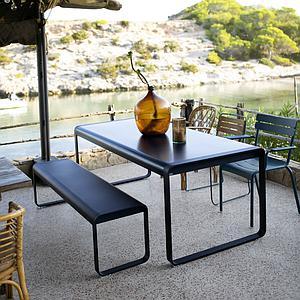 Table de jardin 196x90cm BELLEVIE Fermob bleu acapulco