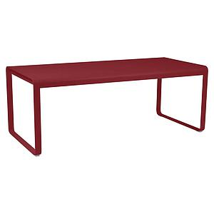 Table de jardin 196x90cm BELLEVIE Fermob piment