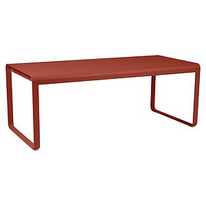 Table de jardin 196x90cm BELLEVIE Fermob rouge ocre