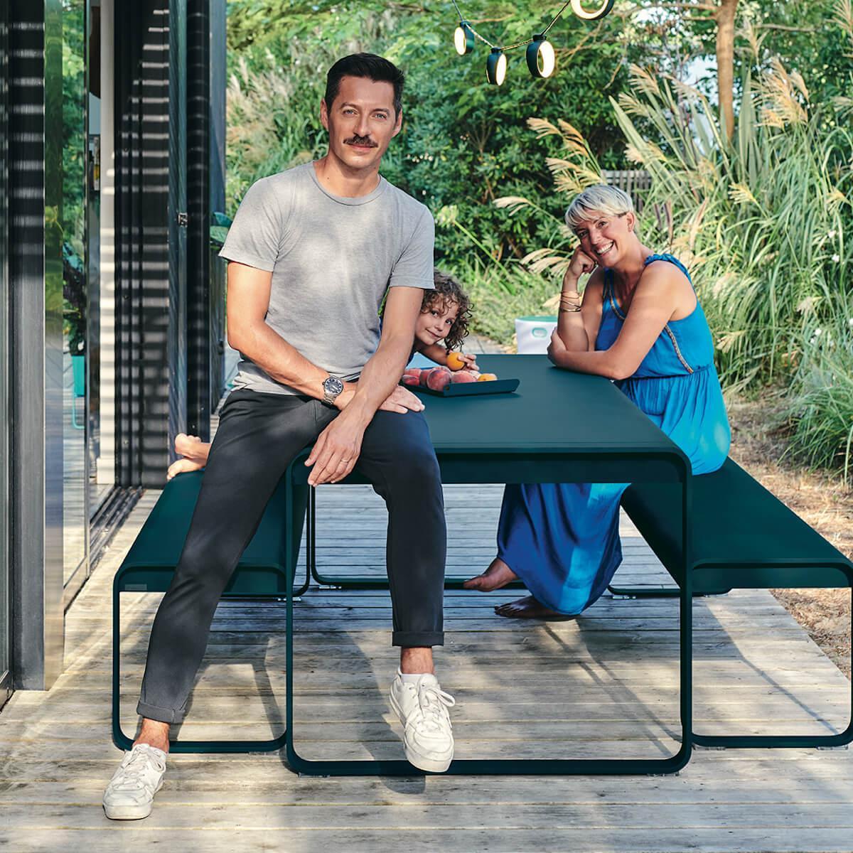Table de jardin 196x90cm BELLEVIE Fermob tilleul