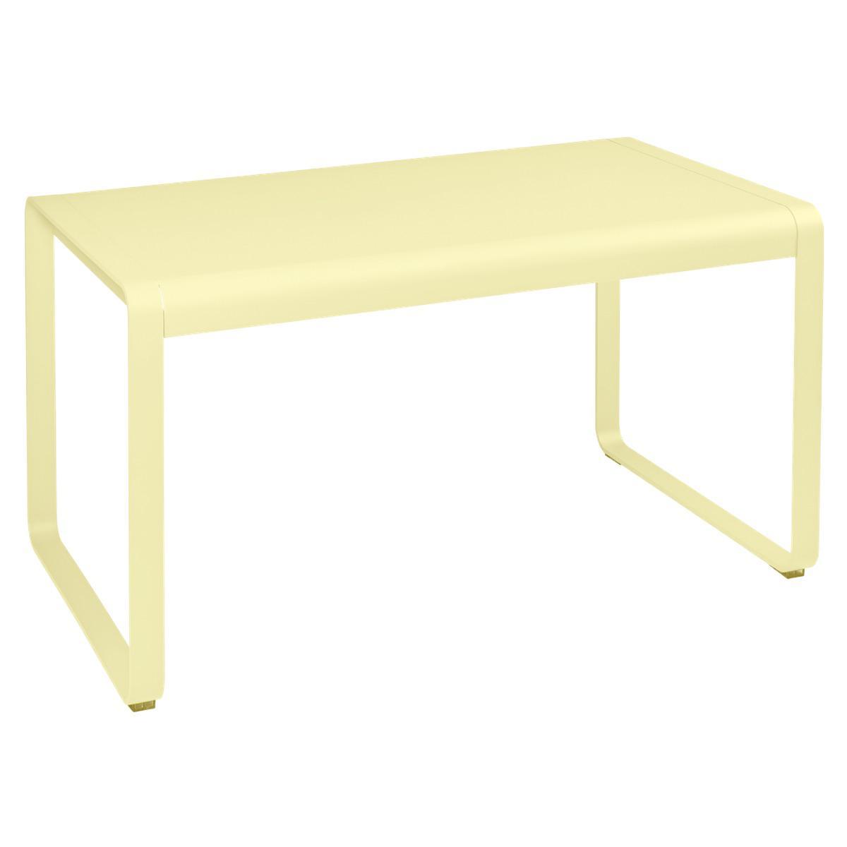 Table de jardin 80x140cm BELLEVIE Fermob citron givré
