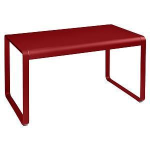 Table de jardin 80x140cm BELLEVIE Fermob coquelicot