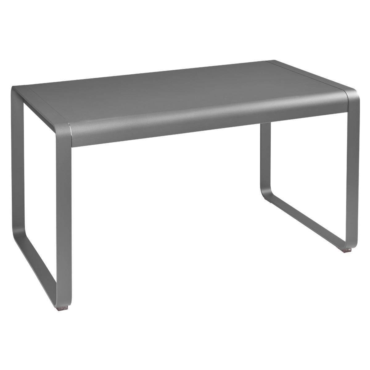 Table de jardin 80x140cm BELLEVIE Fermob gris métal