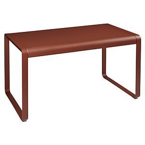 Table de jardin 80x140cm BELLEVIE Fermob rouge ocre