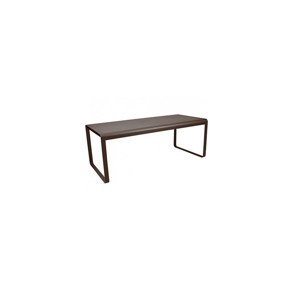 Table de jardin BELLEVIE Fermob brun rouille