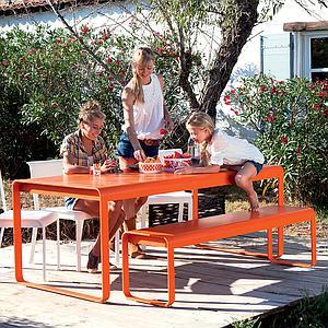 Table de jardin BELLEVIE Fermob coquelicot