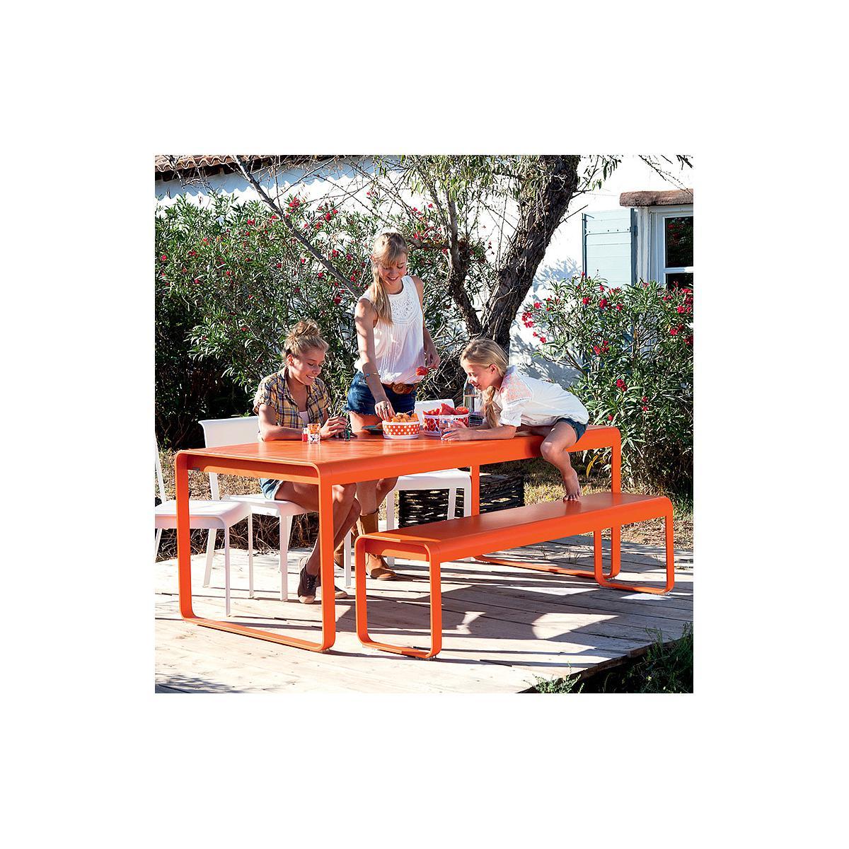 abitare-living.lu | Table de jardin BELLEVIE Fermob gris métal