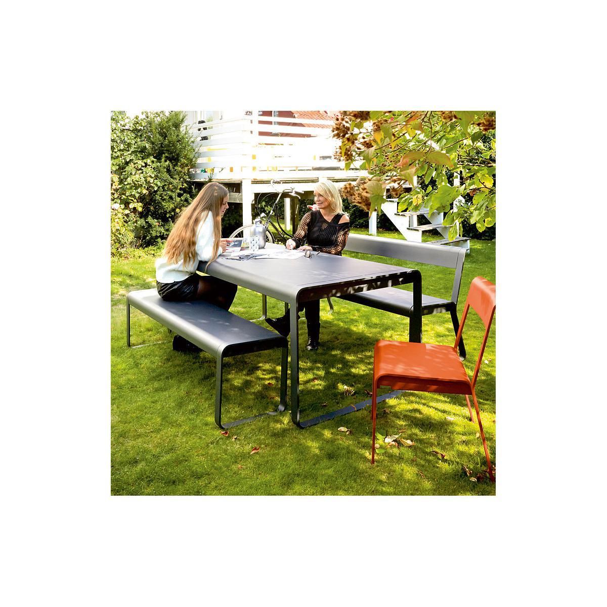 Table de jardin BELLEVIE Fermob gris métal