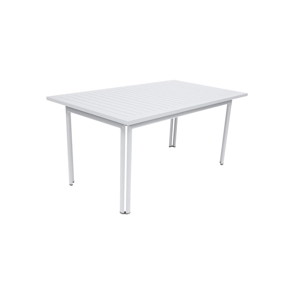 Table de jardin COSTA FERMOB 160x80cm Blanc coton | abitare-living.lu