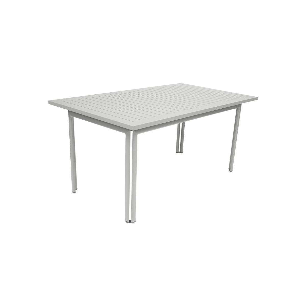 Table de jardin COSTA FERMOB 160x80cm Gris métal