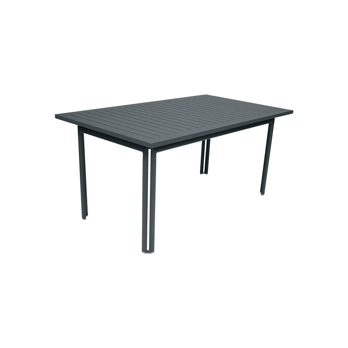 Table de jardin COSTA FERMOB 160x80cm Gris orage