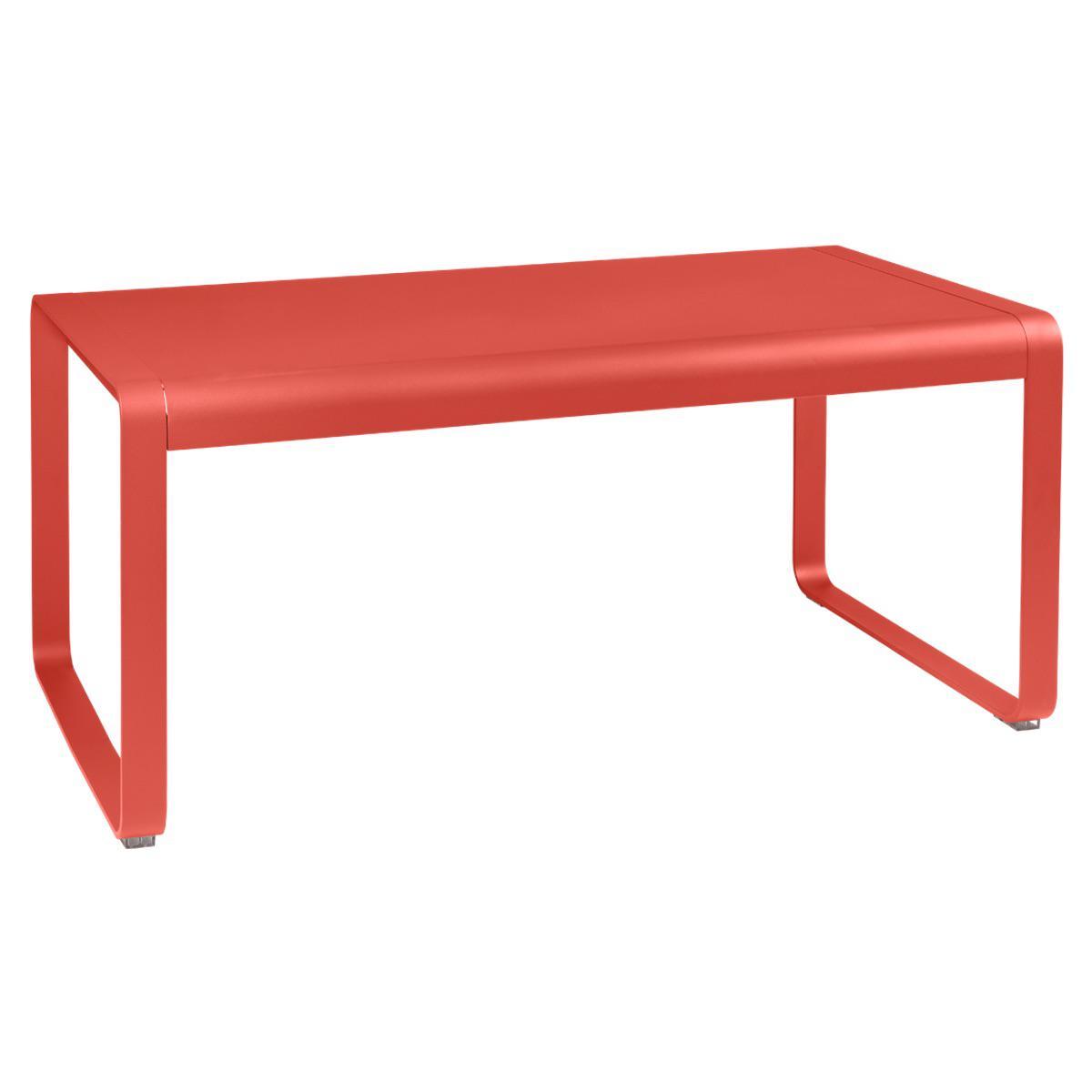 Table de jardin mi-hauteur 80x140cm BELLEVIE Fermob capucine
