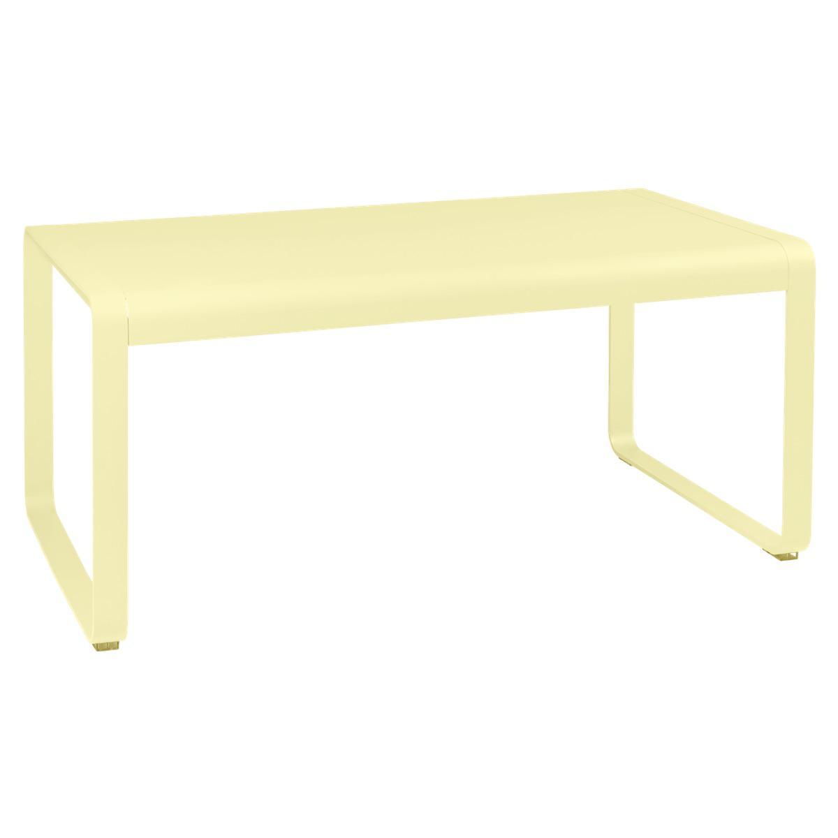 Table de jardin mi-hauteur 80x140cm BELLEVIE Fermob citron givré