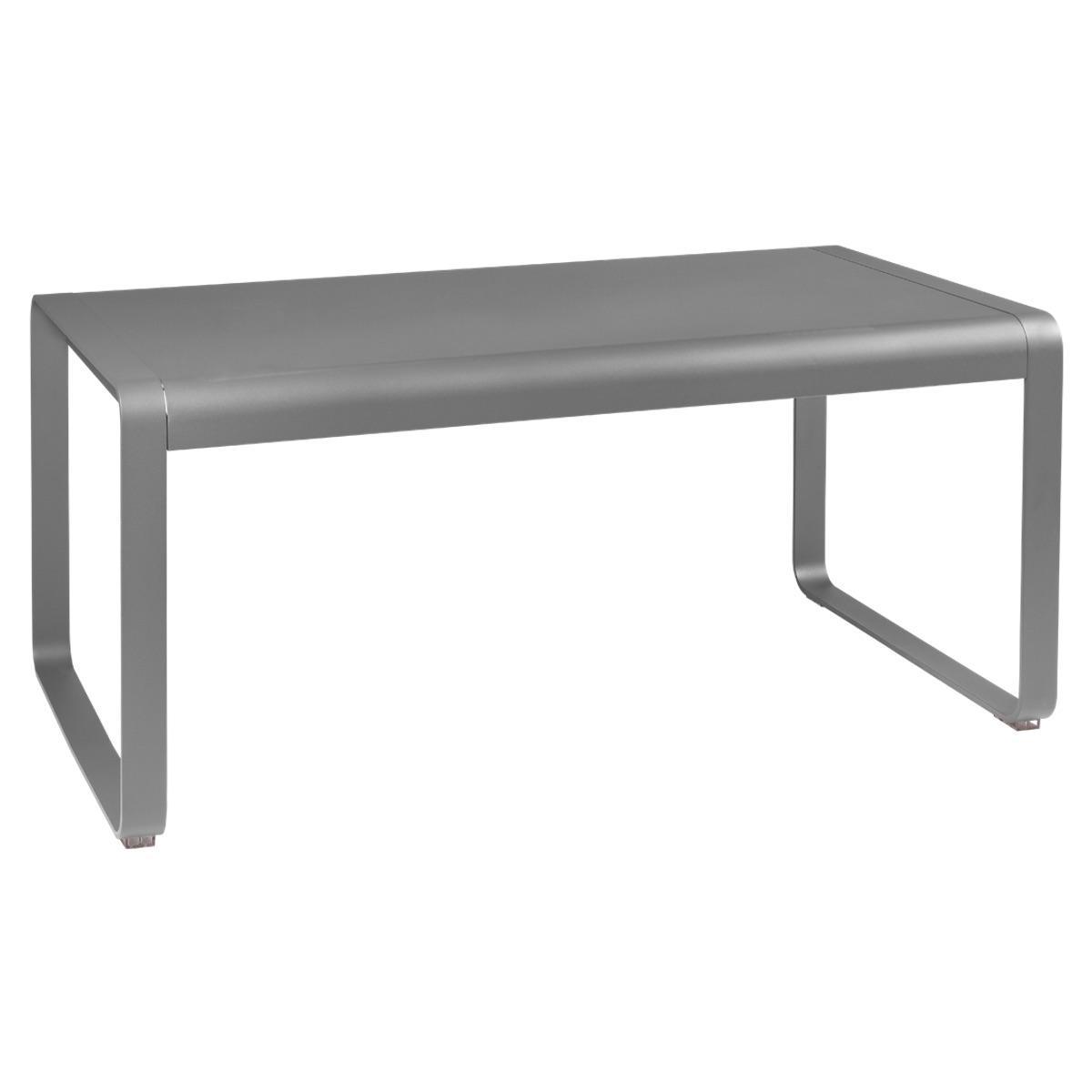 Table de jardin mi-hauteur 80x140cm BELLEVIE Fermob gris métal