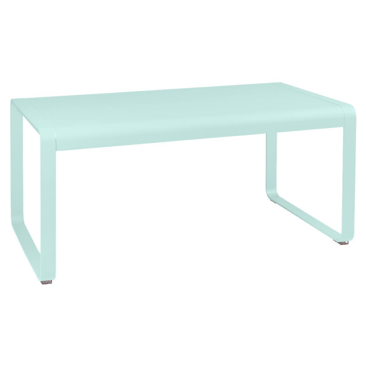 Table de jardin mi-hauteur 80x140cm BELLEVIE Fermob menthe glaciale