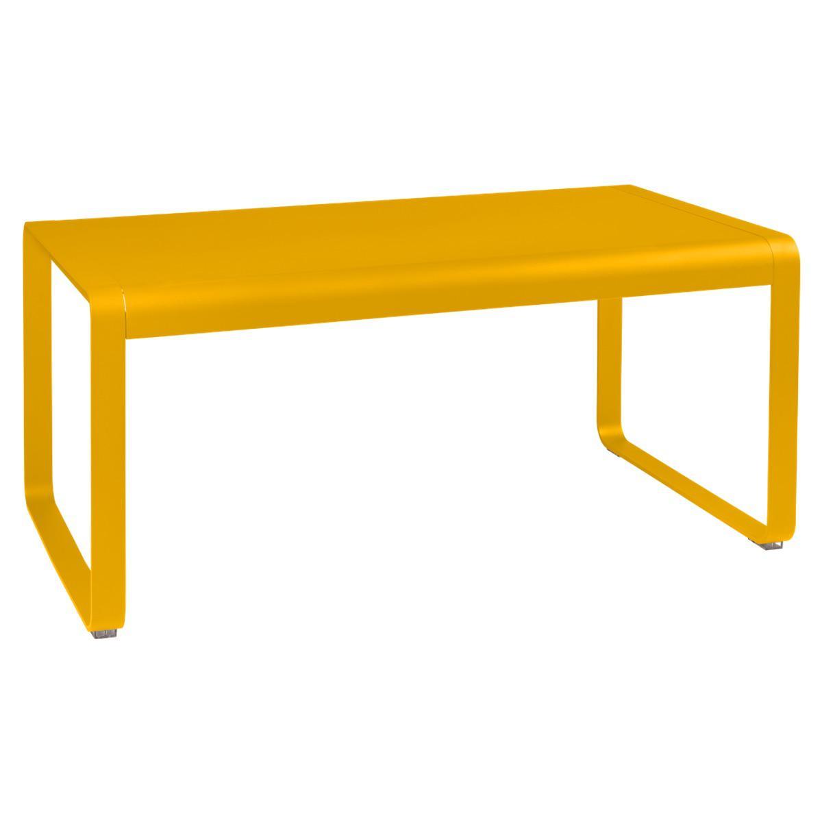 Table de jardin mi-hauteur 80x140cm BELLEVIE Fermob miel
