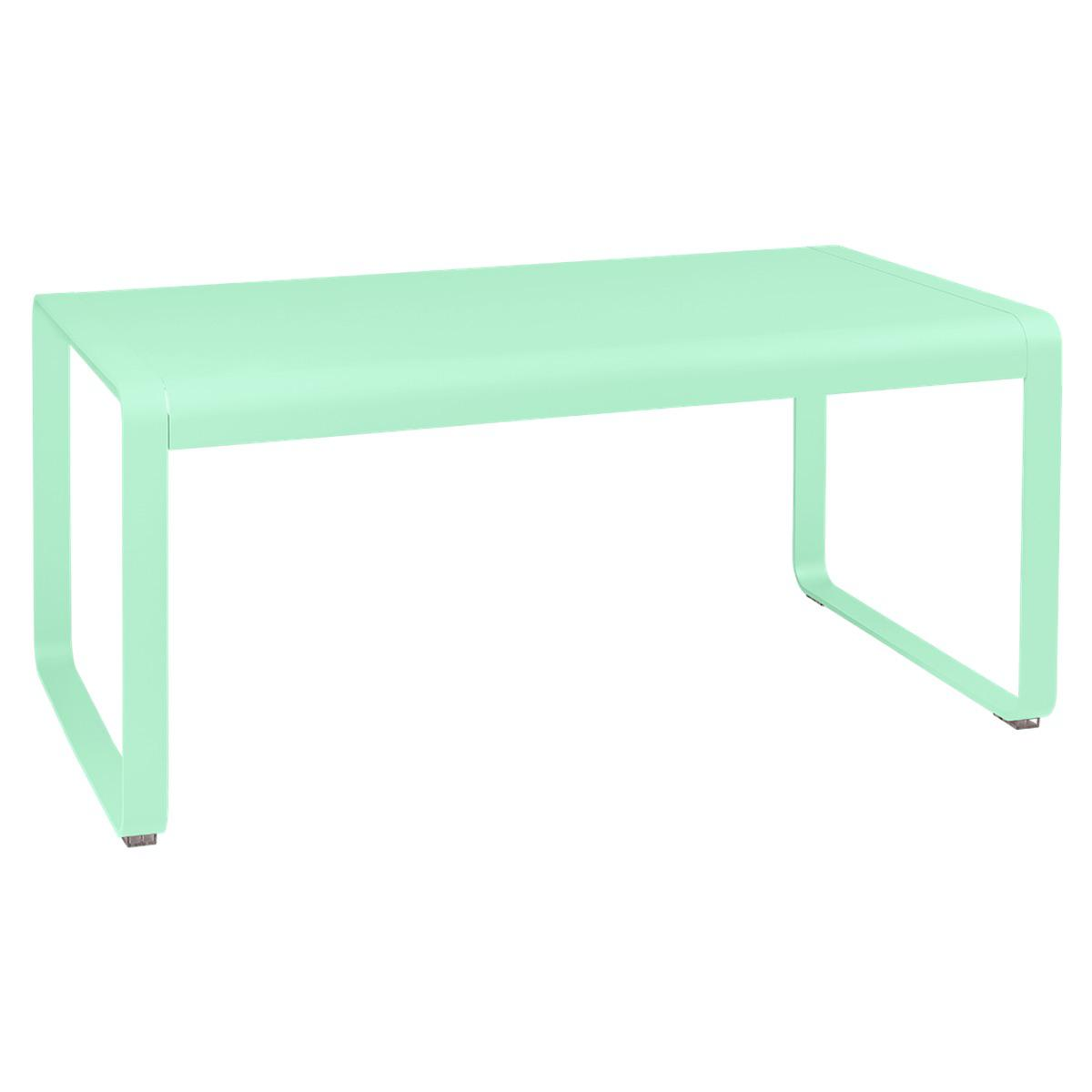 Table de jardin mi-hauteur 80x140cm BELLEVIE Fermob vert opaline
