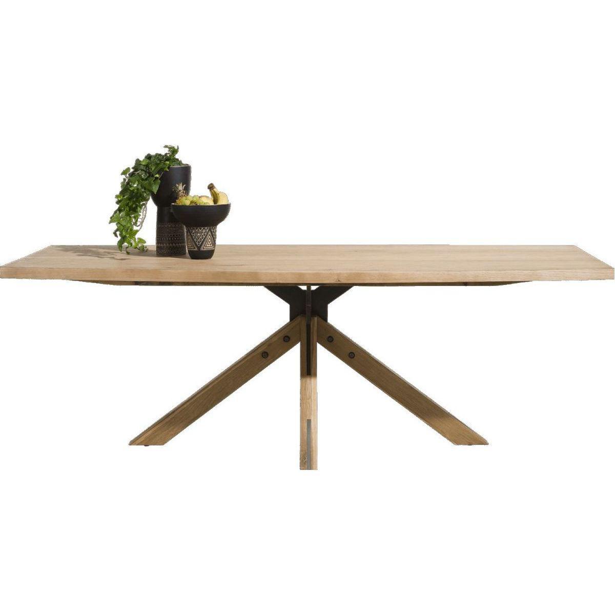 Table fixe JARDINO H&H chêne 105x203cm