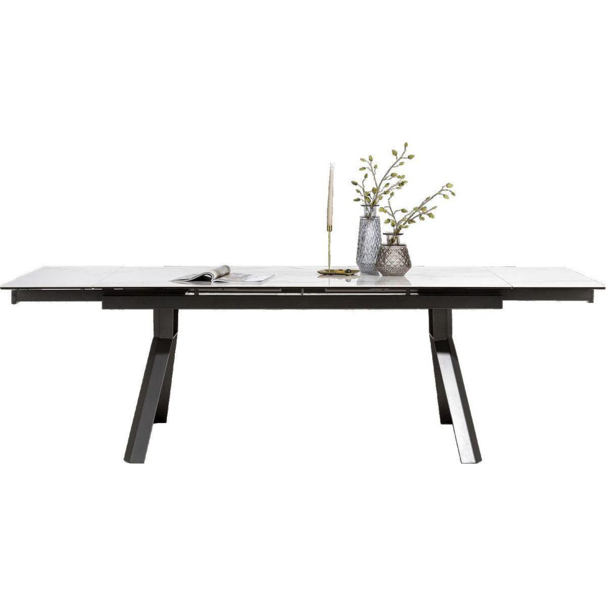 Table GLASGOW à rallonges 90x180+(2x40cm) Xooon