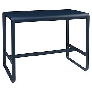 Table haute 80x140cm BELLEVIE Fermob Bleu Abysse