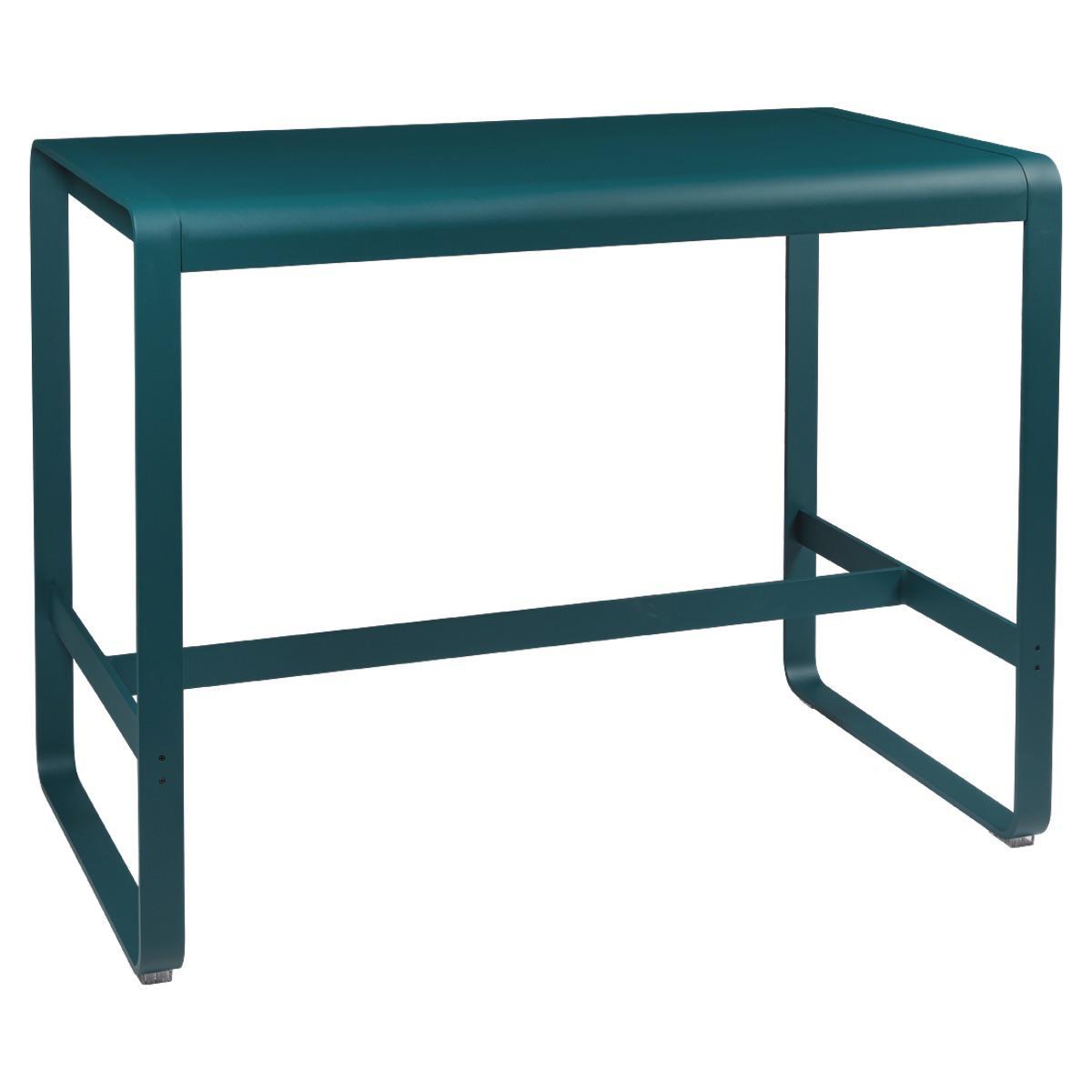 Table haute 80x140cm BELLEVIE Fermob bleu acapulco
