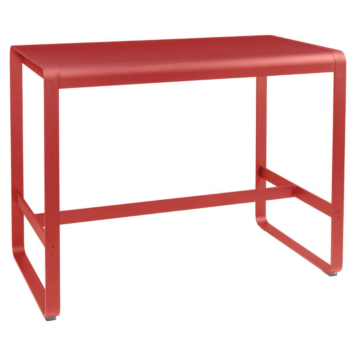 Table haute 80x140cm BELLEVIE Fermob capucine
