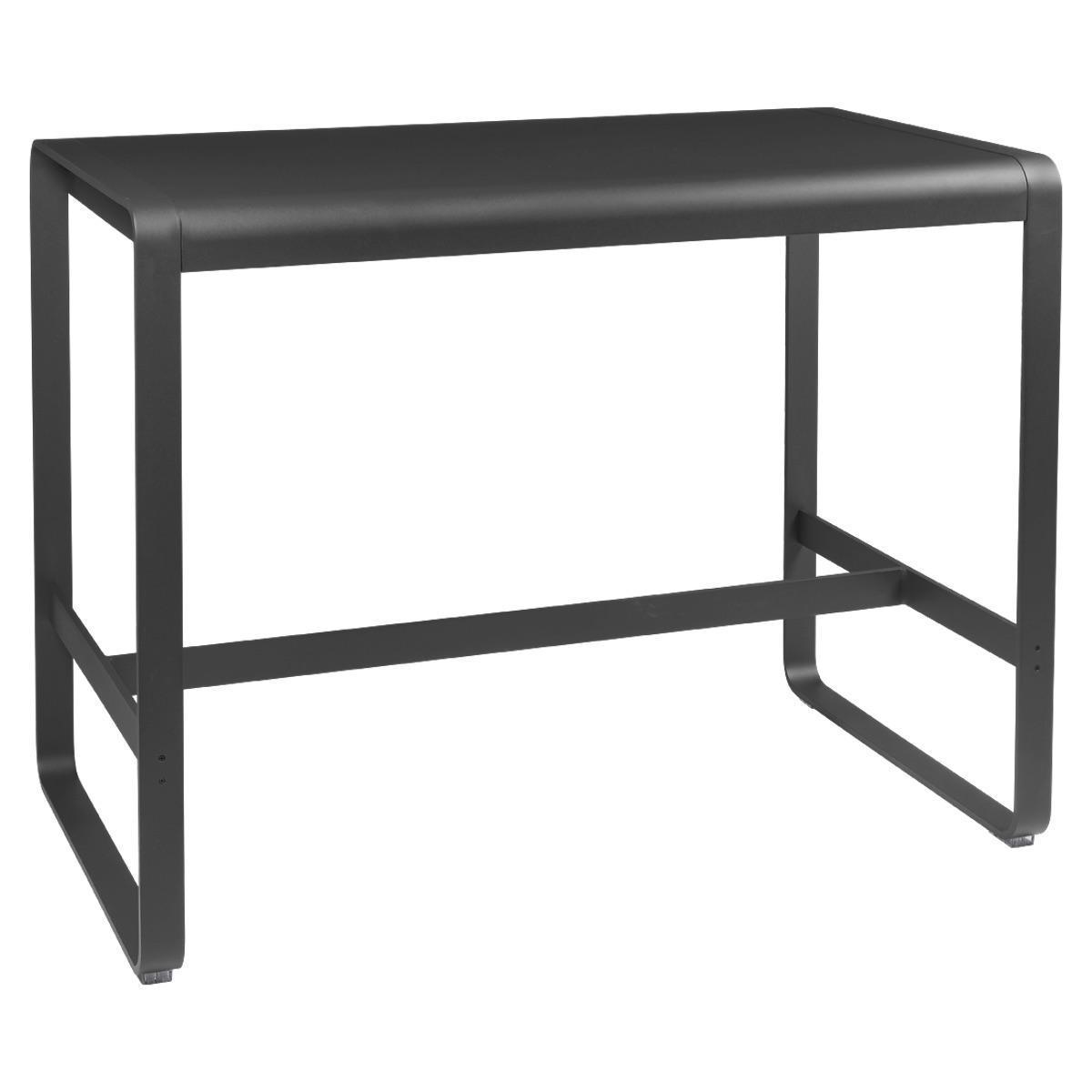 Table haute 80x140cm BELLEVIE Fermob carbone