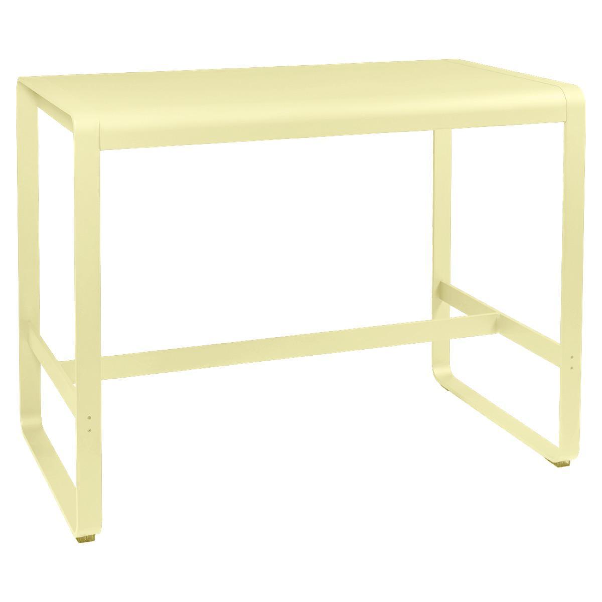 Table haute 80x140cm BELLEVIE Fermob citron givré