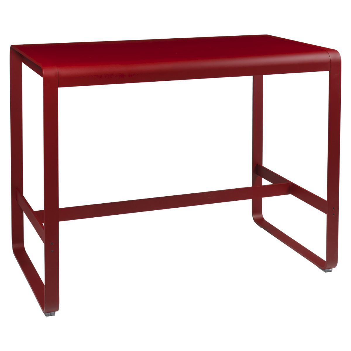 Table haute 80x140cm BELLEVIE Fermob coquelicot
