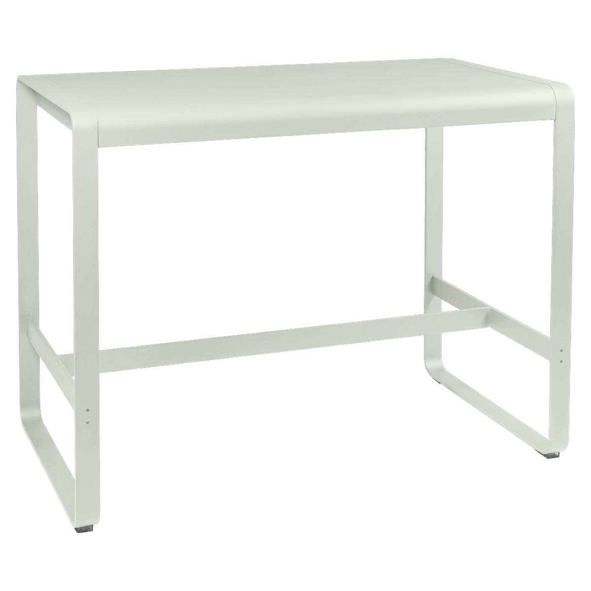 Table haute 80x140cm BELLEVIE Fermob gris argile