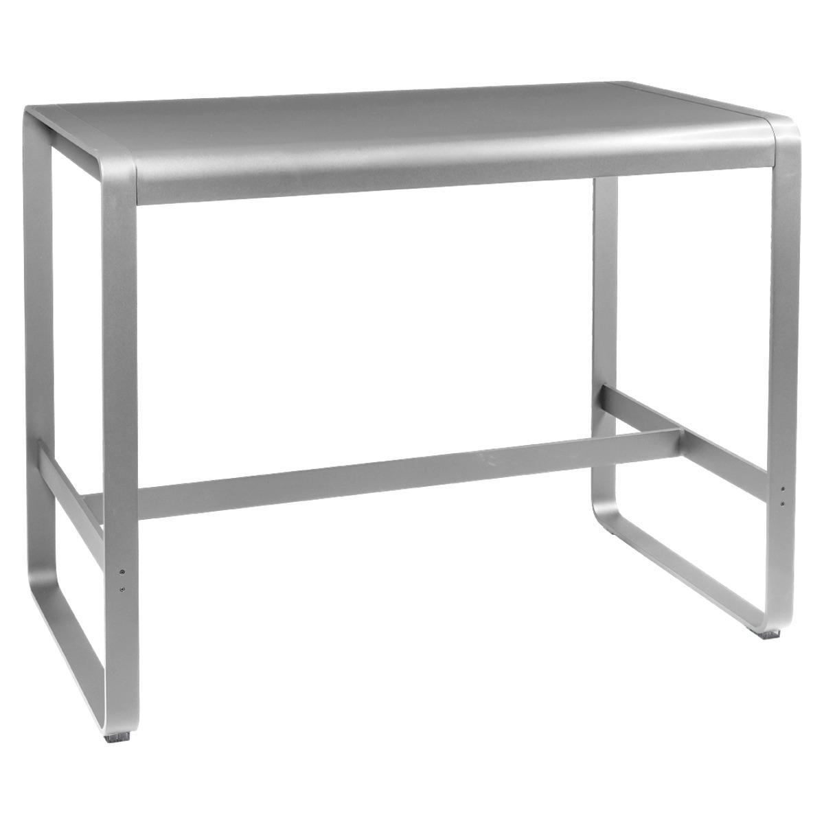 Table haute 80x140cm BELLEVIE Fermob gris métal