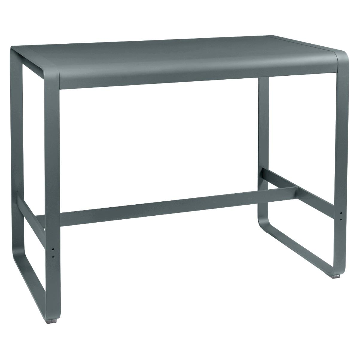 Table haute 80x140cm BELLEVIE Fermob gris orage