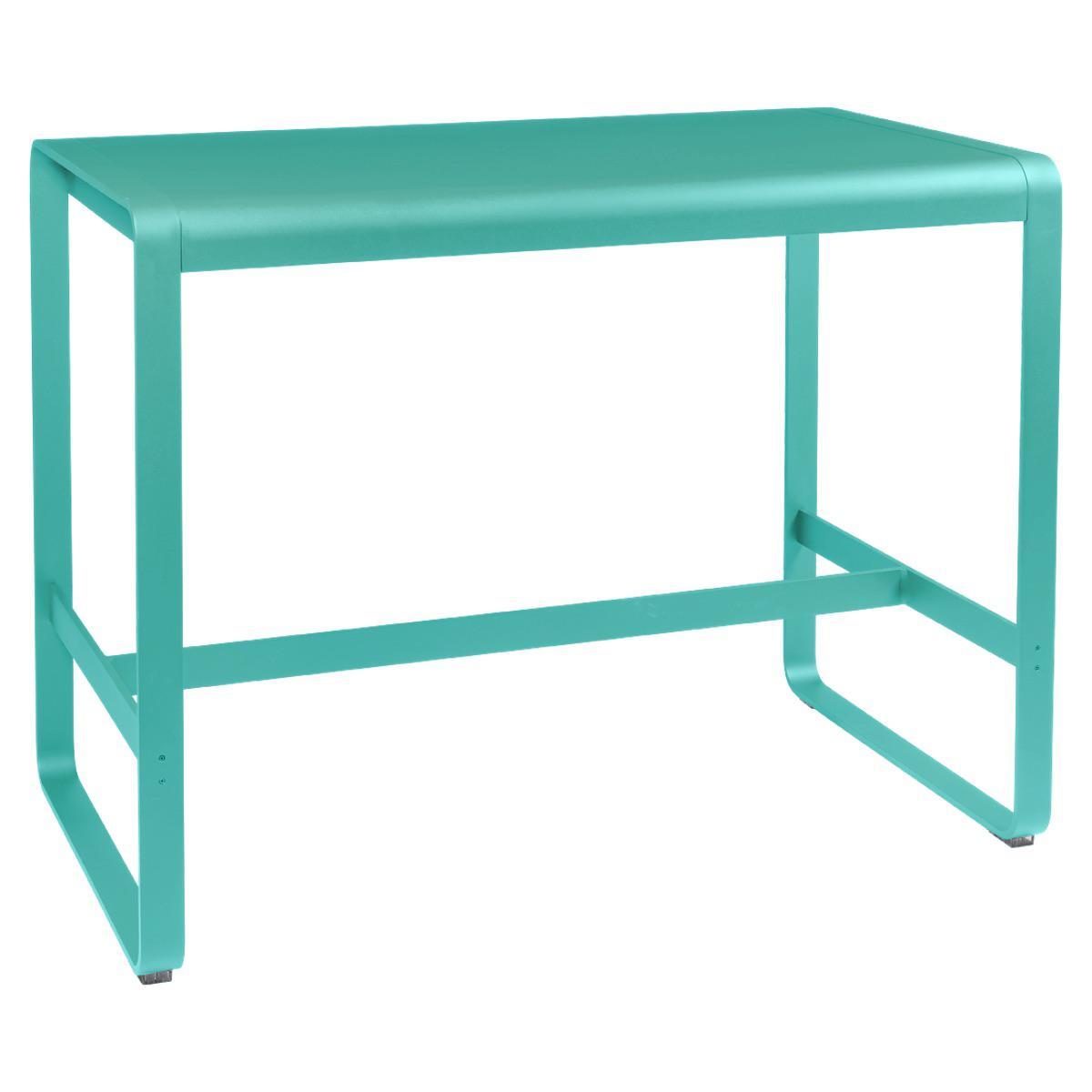 Table haute 80x140cm BELLEVIE Fermob lagune