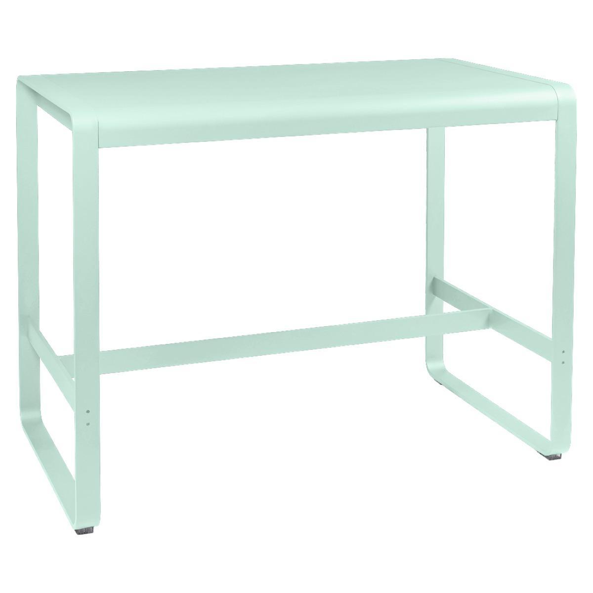 Table haute 80x140cm BELLEVIE Fermob menthe glaciale