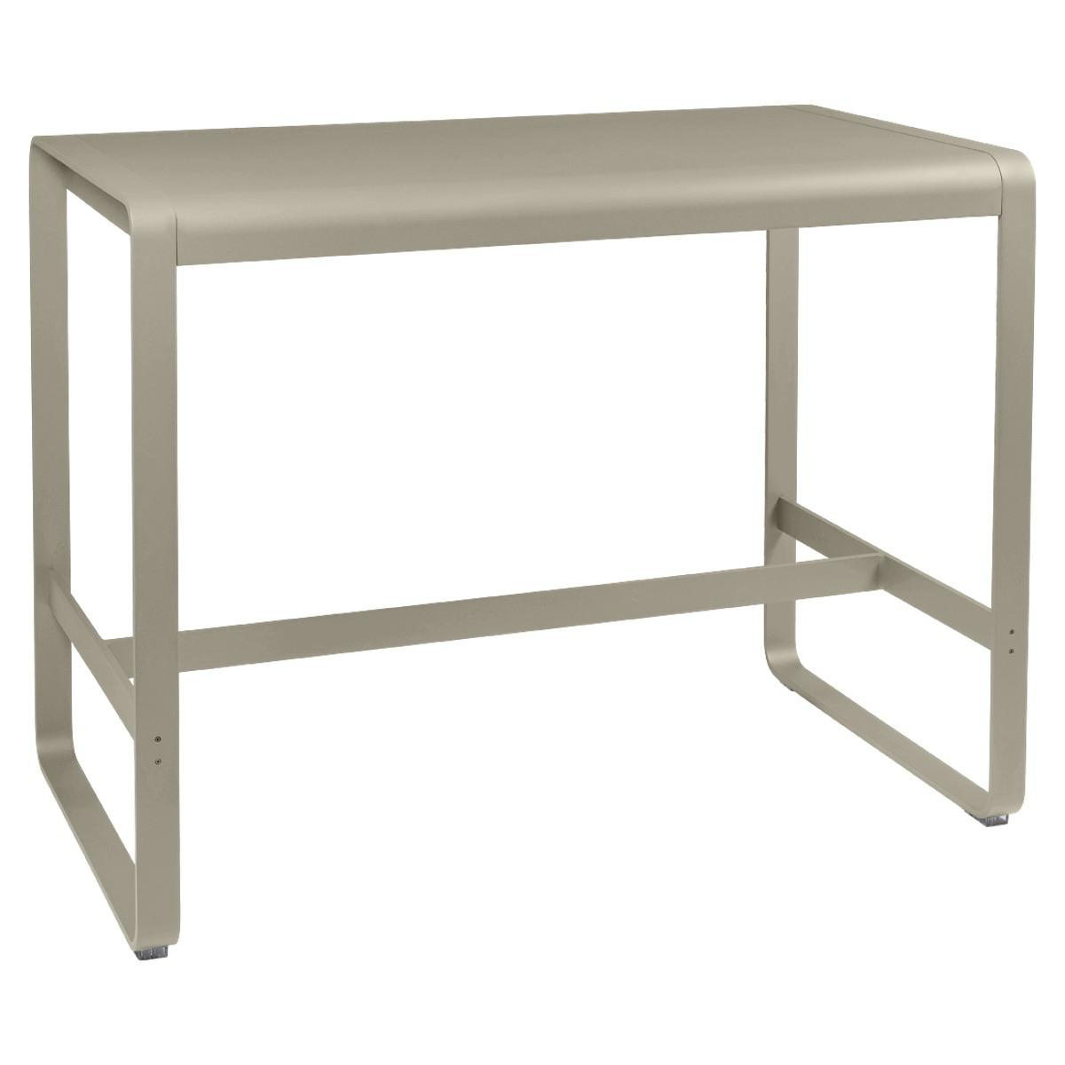 Table haute 80x140cm BELLEVIE Fermob muscade
