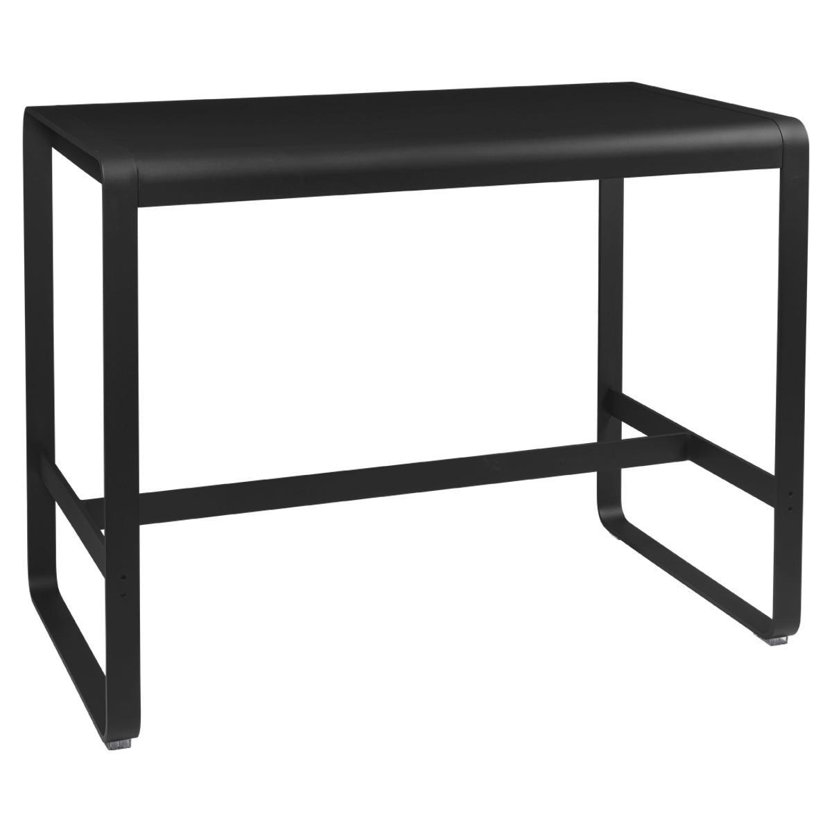 Table haute 80x140cm BELLEVIE Fermob réglisse