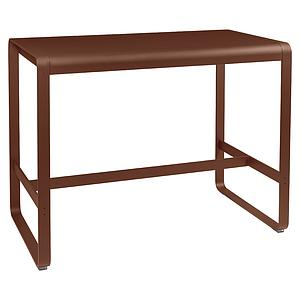 Table haute 80x140cm BELLEVIE Fermob rouge ocre