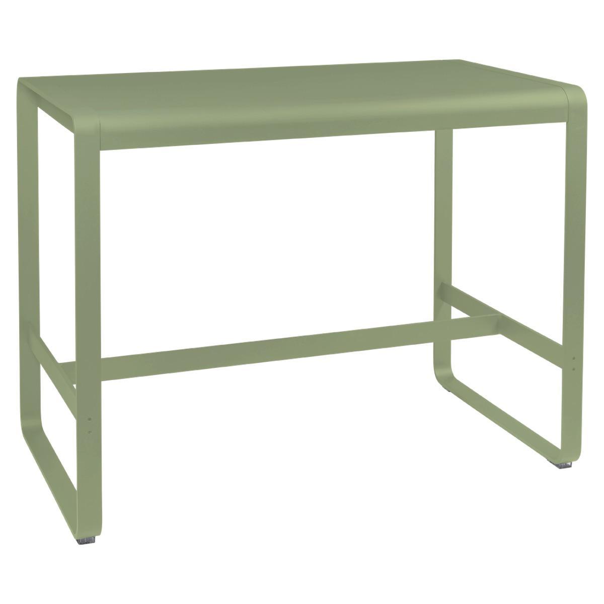 Table haute 80x140cm BELLEVIE Fermob tilleul
