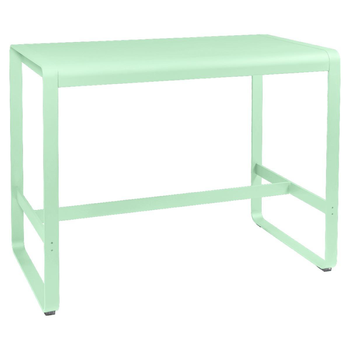 Table haute 80x140cm BELLEVIE Fermob vert opaline