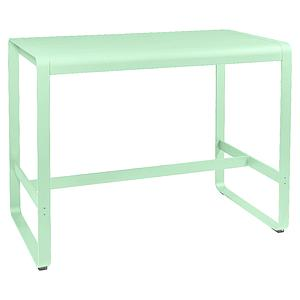 Table haute 80x140cm BELLEVIE Fermob vert opaline