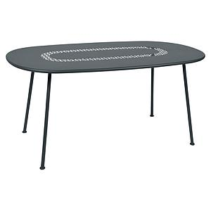 Table LORETTE Fermob 160x90 gris orage