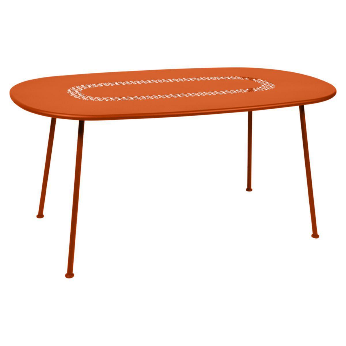 Table LORETTE Fermob 160x90 orange carotte