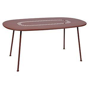 Table LORETTE Fermob 160x90 rouge ocre